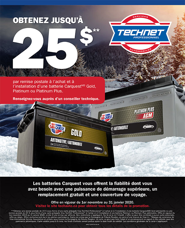promotion garage tech-net carquest automobile